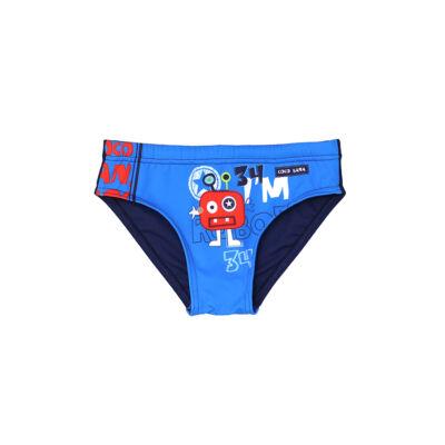 Robotos kék fiú úszó