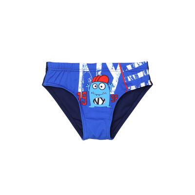 Kék szörnyes fiú úszó