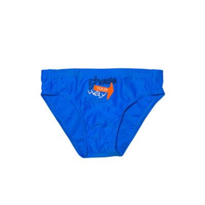 Kék hímzett fiú úszó