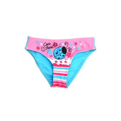 Rózsaszín katicás fürdőbugyi - kékkel