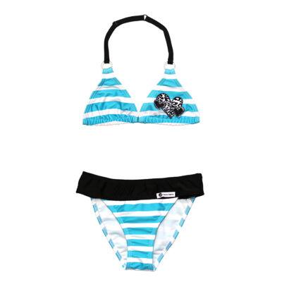 Kék csíkos bikini
