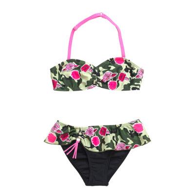 Terepmintás virágos bikini