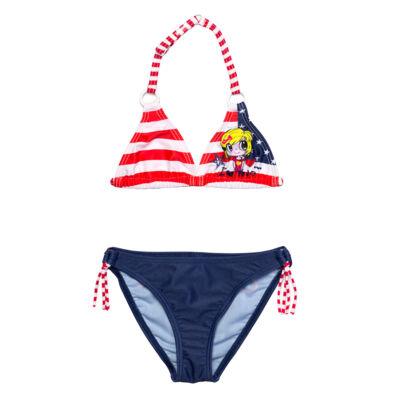 Piros csíkos bikini