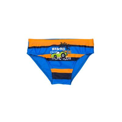 Narancssárga és kék csíkos autós úszó