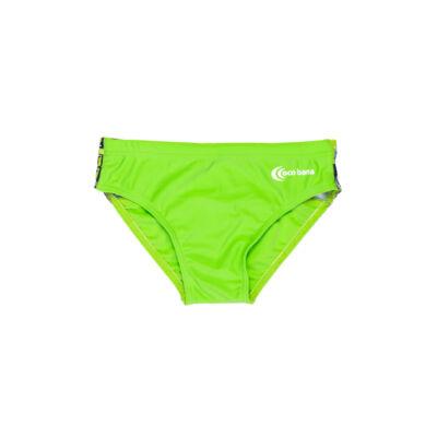 Zöld fiú úszó - mintás hátsó derékkal