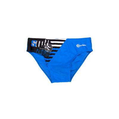 Kék fiú úszó - csíkos oldalbetéttel