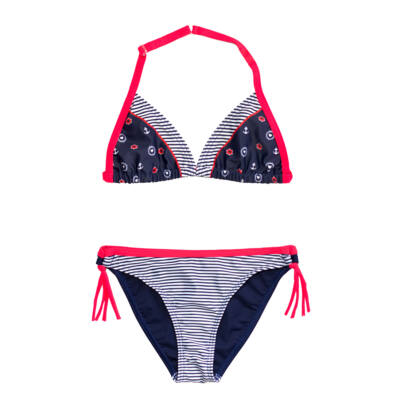 Vékony csíkos tengerészes bikini
