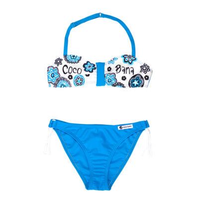 Virágos kék bikini