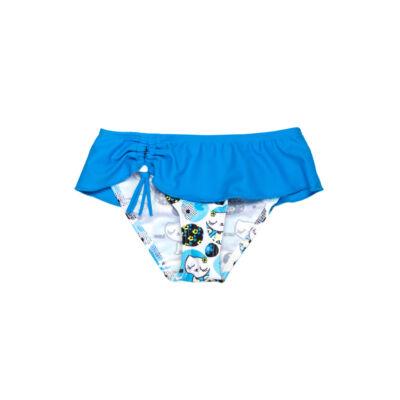 Kék cicás kendős fürdőbugyi