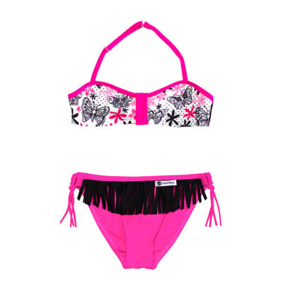 Lepkés bikini - pink