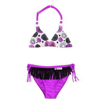 Lila háromszöges bikini - lila bugyival