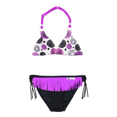 Lila háromszöges bikini - fekete bugyival