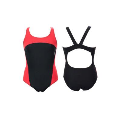 Fekete-piros lány úszódressz