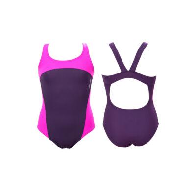 Padlizsán-pink lány úszódressz
