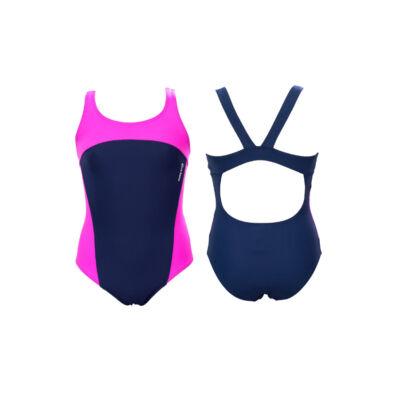 Sötétkék-pink lány úszódressz