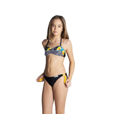 Sárga virágmintás bikini