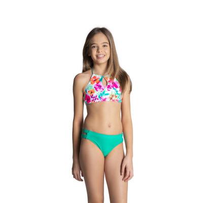 Élénk színű virágmintás magasított bikini