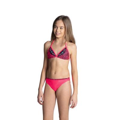 Pink háromszöges párducmintás bikini