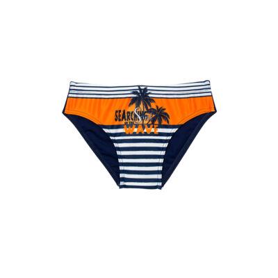 Narancssárga pálmafás fiú úszó