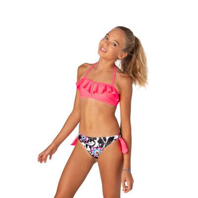 Pink fodros bikini mintás bugyival