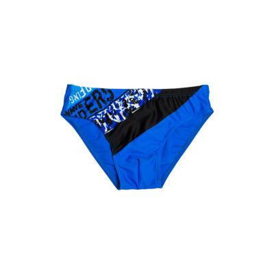 Kék csíkos fiú úszó