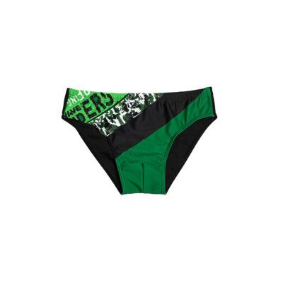 Zöld csíkos fiú úszó