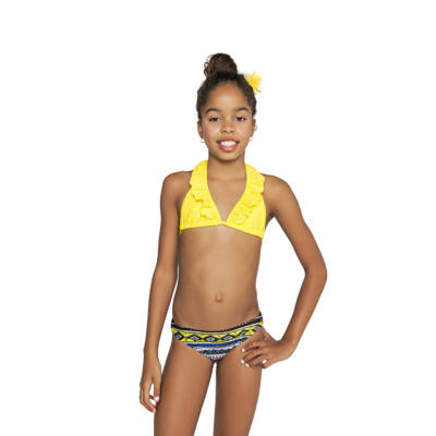 Sárga fodros bikini