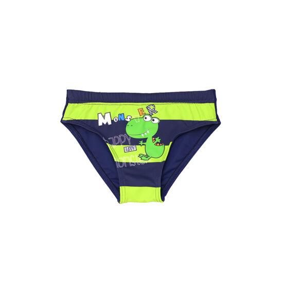 Zöld dínós fiú úszó