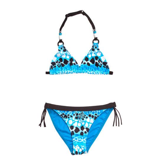 Kék leopárd mintás bikini