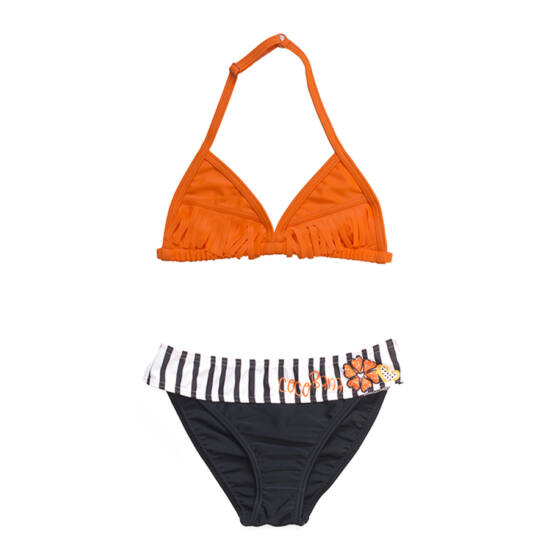 Narancssárga rojtos bikini
