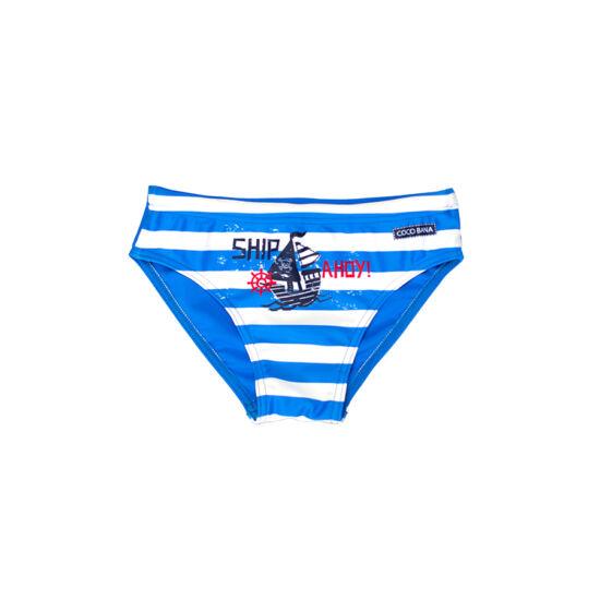Hajós kék csíkos fiú úszó