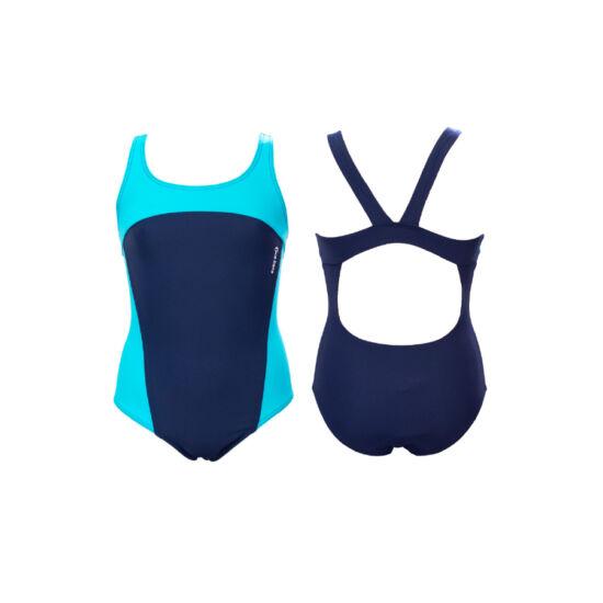 Sötétkék-kék lány úszódressz