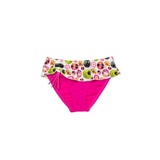 Pink kendős fürdő bugyi, élénk színű mintával