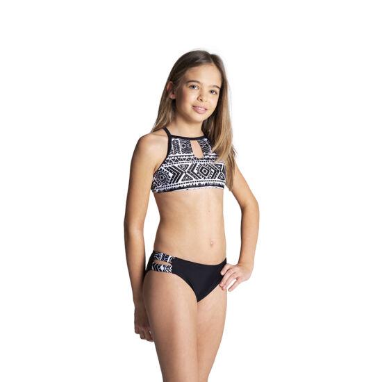 Fekete-fehér mintás magasított bikini