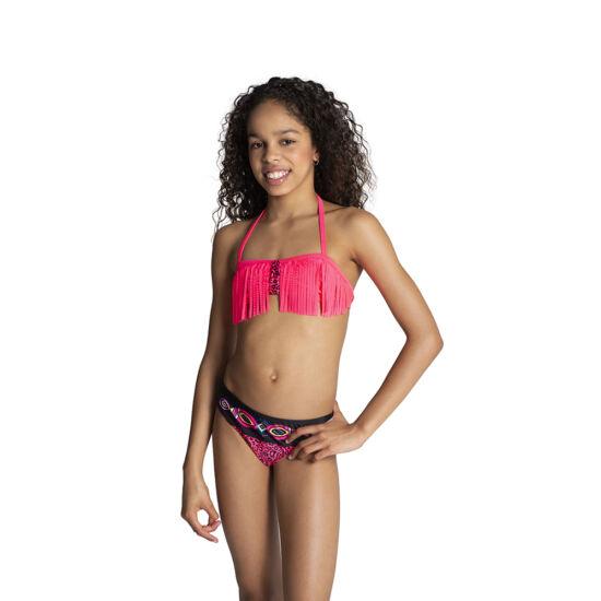 Pink párducos rojtos bikini