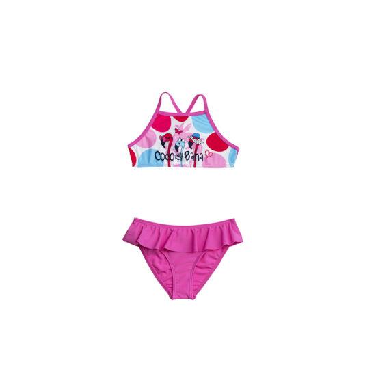 Flamingó mintás magasított bikini