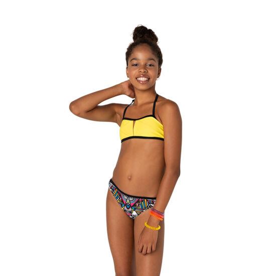 Élénk sárga csőtoppos bikini