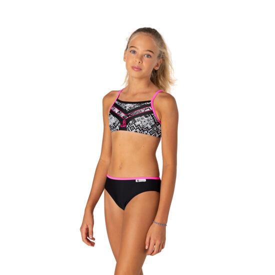 Sportos bikini neon pink szalaggal