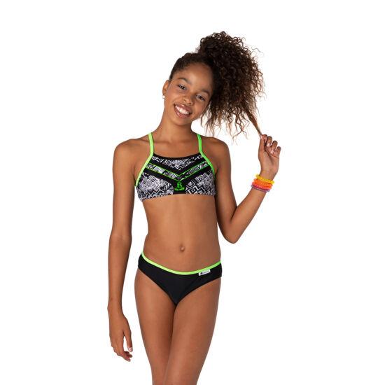 Sportos bikini kivi zöld szalaggal