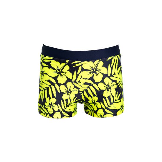 Neonzöld hawai virágos kisfiú száras