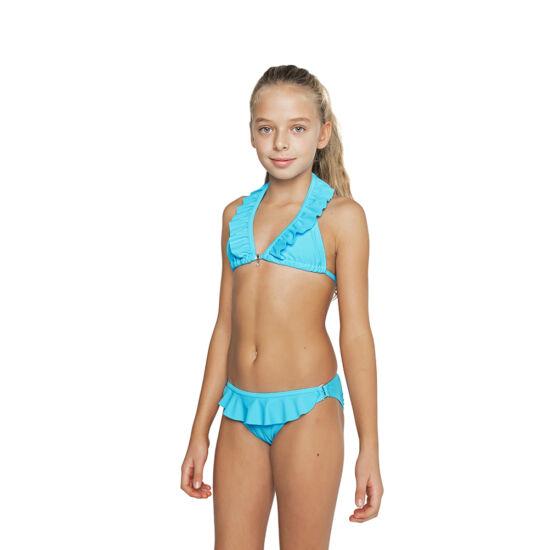 Kék fodros bikini