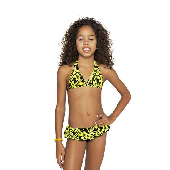 Sárga Hawaii virágos bikini - Bikini  ec1fa69164