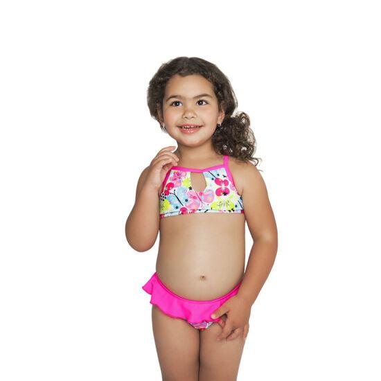 Pink-lepkés magasnyakú mini bikini