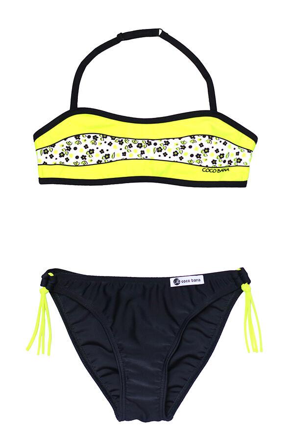 Neon sárga virágos bikini f9206e25e0