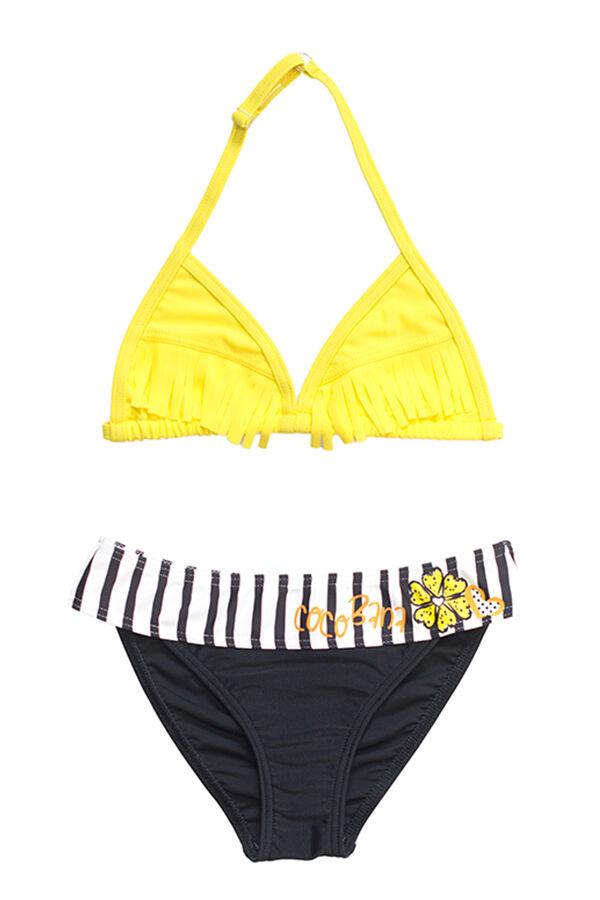 Sárga rojtos bikini 69cec9a1ac