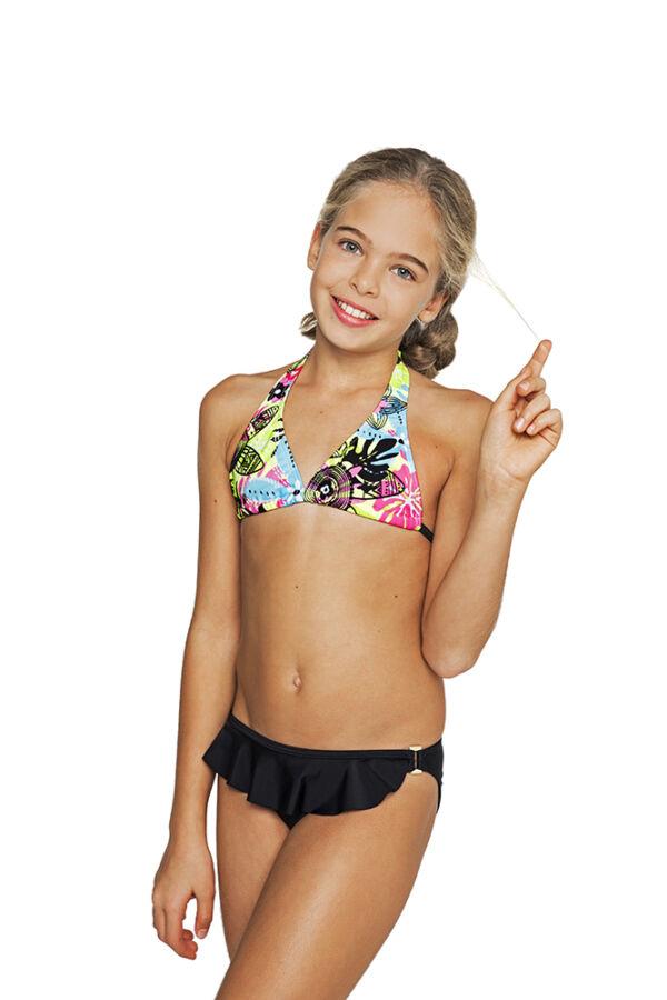 59386eecab Neon virágos bikini - Bikini - Gyermek fürdőruhák - cocobana.hu