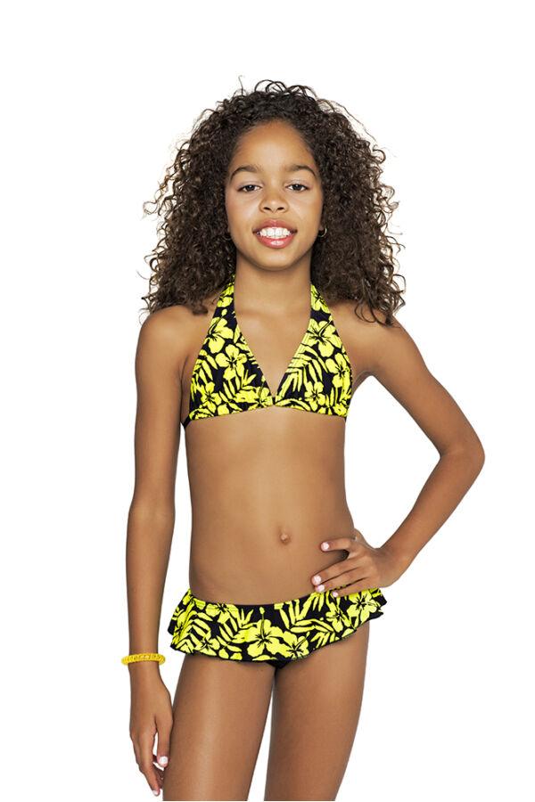 Sárga Hawaii virágos bikini - Bikini  3e84d65365